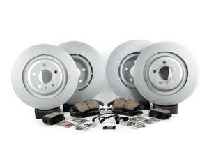 ES#3618411 -  8k0698301mkt2KT - Front & Rear Brake Service Kit - Featuring Meyle rotors and Akebono Euro Ceramic Brake pads - Assembled By ECS - Audi