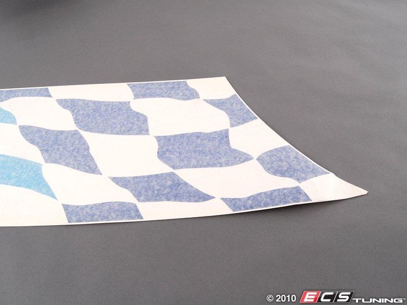 genuine bmw 51148014542 bmw checkered flag decal. Black Bedroom Furniture Sets. Home Design Ideas