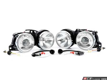 ES#2580256 - 4441116PLDE  -  Euro Smiley Projector Headlight - Complete assemblies including wiring - Depo - BMW