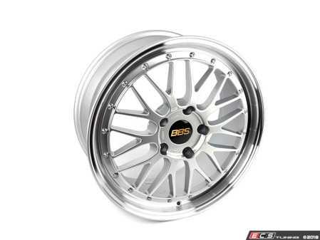"""ES#3514111 - LM287DSPK - 19"""" x 8.5"""" LM - Diamond Silver/Diamond Cut - 19x8.5, ET50, 5x130, 71.6CB - Priced Each - BBS - Porsche"""