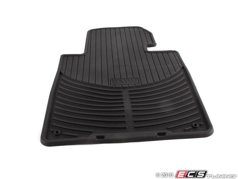 genuine bmw 82550151192 front all weather rubber floor mat set black 82 55 0 151 192. Black Bedroom Furniture Sets. Home Design Ideas