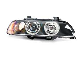 ES#172752 - 63126912440 - Xenon Headlight Assembly - Right - Xenon headlight assembly with angel eyes, comes with clear lens over indicator bulb - Genuine BMW - BMW