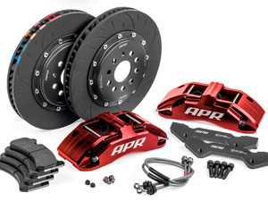 ES#3622320 - BRK00012 - Front Big Brake Kit (350x34) - Red - Red, 6-piston calipers with floating 2-piece rotors, and performance pads - APR - Volkswagen