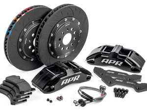 ES#3622321 - BRK00013 - Front Big Brake Kit (350x34) - Black - Black, 6-piston calipers with floating 2-piece rotors, and performance pads - APR - Volkswagen