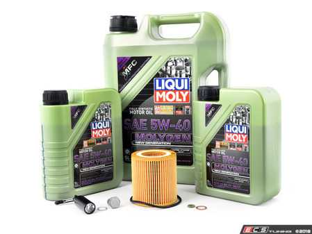 ES#3470581 - 11427566327mgKT - Liqui Moly MolyGen Oil Change Kit / Inspection I - Includes seven quarts of Liqui Moly MolyGen 5w-40 synthetic engine oil, Hengst oil filter and new drain plug - Assembled By ECS - BMW