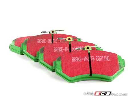 ES#519702 - DP21112 - GreenStuff Performance Brake Pads - Mildly upgraded pad, great for an afternoon of sporty driving - EBC - Volkswagen