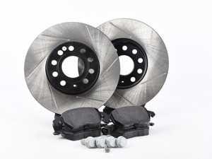 ES#3536821 - 025997ECS0286KT - Performance Front Brake Service Kit (288x25) - Featuring ECS V4 slotted rotors and Hawk HPS pads - Assembled By ECS - Volkswagen