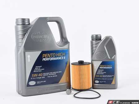 ES#2996247 - 03H115562KT6 -  Oil Service Kit  - Includes Mahle oil filter and Pentosin 5w-40 oil - Assembled By ECS - Volkswagen