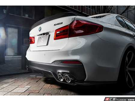 ES#3623009 - 3108-33012 - Carbon Fiber Rear Diffuser Type 1  - Meant to be installed with the factory M-Sport diffuser. - 3D Design - BMW