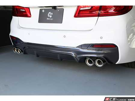 ES#3623010 - 3108-33021 - Carbon Fiber Rear Diffuser Type 2  - A subtle way to add race inspired styling to your G30. - 3D Design - BMW