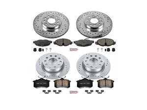 ES#3157811 - K7109 - Z23 Evolution Sport Performance Front & Rear Brake Service Kit (288x25/253x10) - Featuring cross-drilled and slotted rotors and very low dust performance pads - Power Stop - Volkswagen