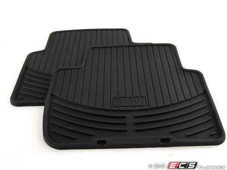 ES#196734 - 82550136373 - Rear All Weather Rubber Floor Mat Set - Black - Protect your carpet from dirt and moisture! - Genuine BMW - BMW