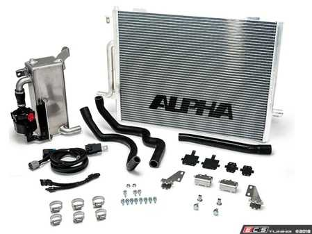ES#3624012 - ALP.14.02.0101-1 - Alpha Performance Audi B8 Supercharger Cooler System - The S4 Boost Cooler will keep your intake temps low, maintaining your 3.0 TFSI supercharged engines maximum output. - AMS Performance - Audi