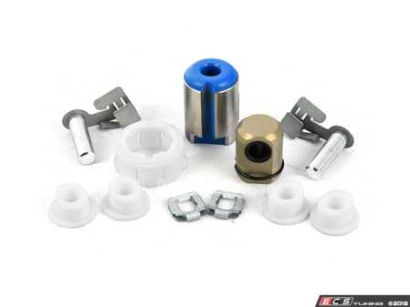 ES#3509823 - 25111221580Kt3 - Shifter Rebuild & Upgrade Kit - Overhaul your shifter with this kit, featuring ECS Tuning teflon shifter bushings & Turner Motorsport poly shift arm bushing. The enthusiast rebuild! - Assembled By ECS - BMW
