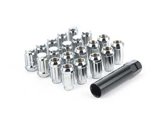 ES#3553140 - 1415NSPL35C-20 - Conical Seat 7-Spline Lug Nut - 14x1.5mm - Set Of 20 - Chrome tuner style lug nuts with specialty socket - HD Tuning - Audi Volkswagen