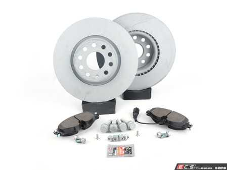 ES#3543545 - 5qd698151FKT2 - Front Brake Service Kit (312x25) - Featuring Optimal rotors and Pagid pads. - Assembled By ECS - Volkswagen