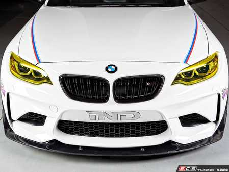 ES#3622980 - 3101-28721 - Carbon Fiber Front Lip Spoiler Set  - complete the aggressive look of the M@ with a Carbon lip and canards. - 3D Design - BMW