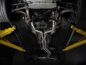 """ES#4381689 - 008553ECS09KT - Audi B8/8.5 S4 Valved Cat-Back Exhaust - Non Resonated With 4"""" Carbon Fiber Swivel Tips - ECS evolutionary design and manufacturing, blending with raw emotion, desire and passion, creating a truly unique driving experience - ECS - Audi"""