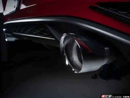 "ES#3612673 - 026125ecs01-01KT - MK7.5 GTI 4.0"" OE Fit Exhaust Tips - Chrome - Pair - A pair of direct-fit exhaust tips for the OE exhaust system on your 2018+ GTI - ECS - Volkswagen"