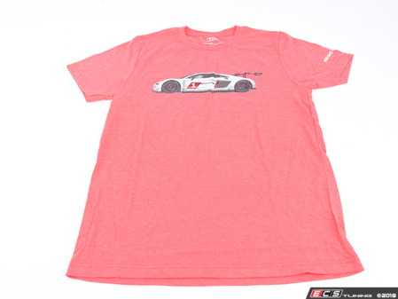 ES#3572011 - ACM3026REDMD - Audi R8 LMS GT3 T-Shirt - Red - Medium - Cross the finish line first every time with the Audi R8 LMS GT3 Tee! - Genuine Volkswagen Audi - Audi BMW Volkswagen Mercedes Benz MINI Porsche