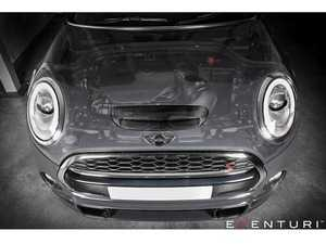 ES#3624593 - EVE-F56-CF-INT - F56 F55 F57 F54 MINI Cooper S/JCW - Black Carbon Intake Pre LCI - Designed for optimum performance while adding a unique style and functional carbon fiber scoop. Up to ~2018/2019 Check MAF Sensor as this Pre LCI has a Oval base design sensor part for the mount to the tube housing - Eventuri - MINI