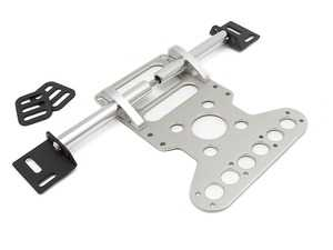 ES#2840058 - FE09SILVER - Silver Fire Extinguisher Mount - Universal - Constructed from aircraft grade aluminum and meets all requirements for racing series or other organized track events. - Rennline - Audi BMW Volkswagen Mercedes Benz MINI Porsche