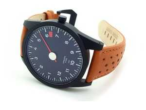 ES#3625836 - AP-RL-71 - GuardsRed Design Tach Watch - RL-71 with 6200rpm rev limiter and tan leather strap - Rennline - Audi BMW Volkswagen Mercedes Benz MINI Porsche