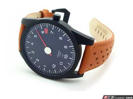 ES#3625836 - AP-RL-71 - GuardsRed Design Tach Watch - RL-71 with 6200rpm rev limiter and tan leather strap - Rennline - Audi BMW Volkswagen Mercedes Benz MINI Porsche