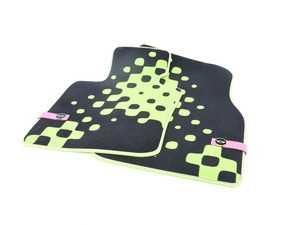 ES#2714986 - 51472354170 - Front Carpet Factory Floor Mats Set Vivid Green - Priced As Set  - Replace or upgrade to factory MINI mats - Genuine MINI - MINI