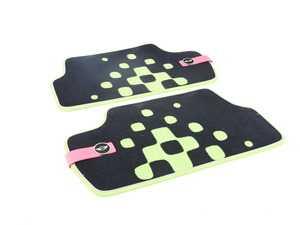 ES#2715099 - 51472354177 - Rear Carpet Factory Floor Mats Set Vivid Green - Priced As Set  - Replace or upgrade to factory MINI mats - Genuine MINI - MINI