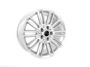 "ES#3621907 - 543-1KT - 17"" Style 543 Wheels - Set Of Four - 17""x7"" ET42 66.6CB 5x112 - Hyper Silver - Alzor - MINI"