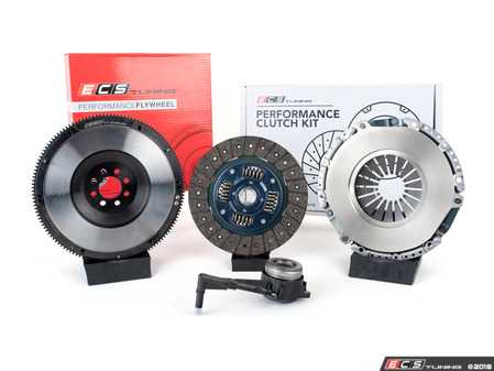 ES#3480025 - 003465ECS01KT -  ECS Tuning Stage 2 Performance Clutch Kit with Lightweight Forged Steel Flywheel (18.85lbs) - The best value for Heavy Duty OE Replacement and Stage 2 Power Levels! Capable of holding 400 Ft/Lbs of crank torque - ECS - Audi Volkswagen