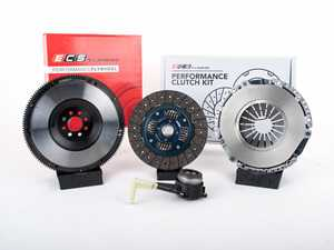 ES#3480027 - 015123ECS01KT -  ECS Tuning Stage 2 Performance Clutch Kit with Lightweight Forged Steel Flywheel (18.85lbs) - The best value for Heavy Duty OE Replacement and Stage 2 Power Levels! Capable of holding 400 Ft/Lbs of crank torque - ECS - Volkswagen