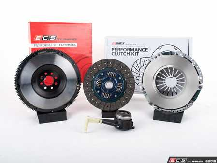 ES#3480027 - 015123ECS01KT -  ECS Tuning Stage 2 Performance Clutch Kit with Lightweight Forged Steel Flywheel (18.85lbs) - The best value for Heavy Duty OE Replacement and Stage 2 Power Levels! Capable of holding 400 Ft/Lbs of torque - ECS - Volkswagen