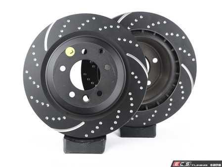 ES#2153583 - GD1497 - EBC GD series Sport Rotor Kit (two pieces) - Porsche - Rear - EBC -