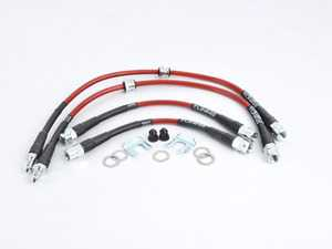 ES#3612567 - 027569ECS16 - Stainless Steel Brake Lines - Rear - High quality reinforced lines for great looks and a more consistent pedal feel - ECS - BMW