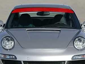 ES#2839769 - E40GLOSSBLK - Rennline Windshield Visors - Gloss Black - Designed specifically for your vehicle's windshield - Rennline - Porsche