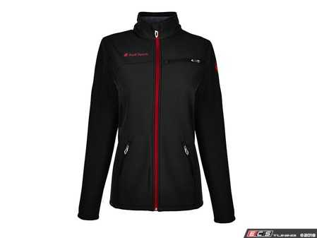 ES#3628244 - ACM2049BLK2X - Spyder Transport Softshell - Ladies 2XL - Look and feel great while in the Spyder Transport Softshell Jacket with complementary zipper color. - Genuine Volkswagen Audi - Audi