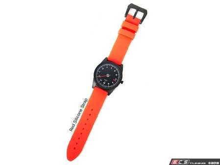 ES#3551899 - AP-RL-STRS - GuardsRed Design Tach Watch - Red Silicone Strap - Comes with a stamped GRD buckle in PVD black. - Rennline - Audi BMW Volkswagen Mercedes Benz MINI Porsche