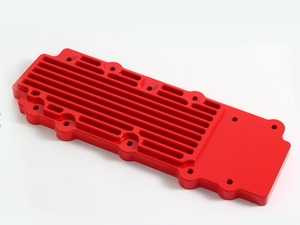 ES#2840174 - M15RED - 993 Turbo Billet Aluminum Lower Valve Cover Pair - Red - Direct bolt on replacement for your flimsy leaking factory covers - Machined to accept the reusable OEM gaskets - Rennline - Porsche
