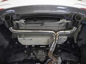 ES#3639197 - SBMWM235MBEAB - M235 Muffler Bypass Axleback Exhaust System With Tips  - Change your M235i from mildly aggressive to wildly visceral with a muffler delete from Fabspeed! - Fabspeed - BMW