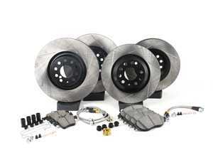 ES#3225191 - 977.33081 - Performance Sport Pack Brake Service Kit - Front & Rear  - Featuring slotted rotors, matched sport performance pads and stainless steel brake lines - StopTech - Volkswagen