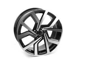 "ES#3639409 - 673-1KT1 - 18"" Style 673 - Set Of Four - 18""x8"" ET45 5x112 - Black/Machine Face - Alzor - Audi MINI"