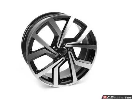 "ES#3639408 - 673-1KT - 18"" Style 673 - Set Of Four - 18""x8"" ET45 5x112 - Black/Machine Face - Alzor - Audi Volkswagen"