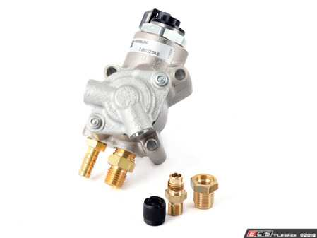 ES#3612392 - 06f127025kKT -  B7 A4 2.0T High Pressure Fuel Pump Replacement Kit - Includes fuel pump and necessary adapter fittings to swap in a new style HPFP (barbed fitting) into your original banjo fuel line setup - Assembled By ECS - Audi