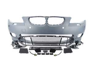 ES#3191417 - ecsE60MTLCIPDC - M-Tech Replica Bumper Conversion - Front - M-Tech styling at an affordable price - ECS - BMW