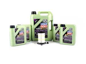 ES#3639493 - 079198405DKT - Premium Oil Service Kit - Includes 9 liters of LiquiMoly MolyGen Oil (5w-40) synthetic engine oil, oil filter, and drain plug w/sealing washer - Assembled By ECS - Audi