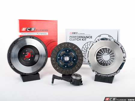 ES#3480026 - 004258ECS01KT -  ECS Tuning Stage 2 Performance Clutch Kit with Lightweight Forged Steel Flywheel (18.85lbs) - The best value for Heavy Duty OE Replacement and Stage 2 Power Levels! Capable of holding 400 Ft/Lbs of torque - ECS - Audi Volkswagen