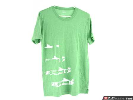 ES#3572017 - ACM3027GRNMD - Audi e-tron Design T-Shirt - Green - Medium - The Audi e-tron Design Tee shows a build up that has been respected for generations. - Genuine Volkswagen Audi - Audi BMW Volkswagen Mercedes Benz MINI Porsche