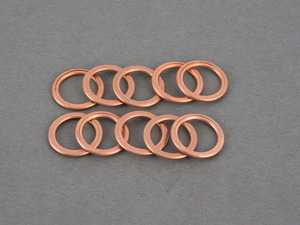ES#3191599 - 11137546275KT - Oil Drain Plug Washer - Pack Of 10 - Seals the oil plug to the pan, for multiple oil changes - Genuine MINI - MINI